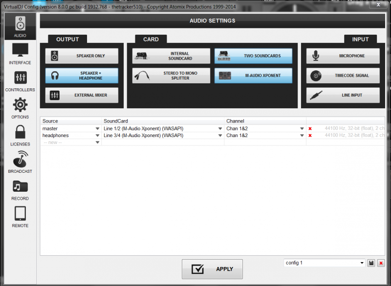 DJ Software - VirtualDJ - can I force vdj into left,right