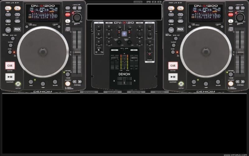 DJ Software - VirtualDJ - Denon DN-S1200 Skin! Virtual Dj Skins Denon