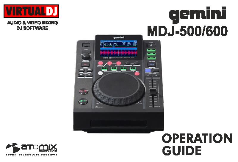 DJ Software - VirtualDJ - Hardware - Gemini
