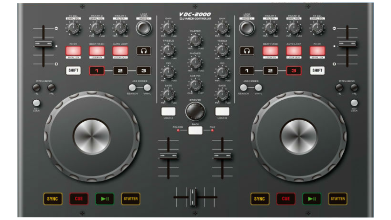 how to connect cdj-800 witg citronic mixer