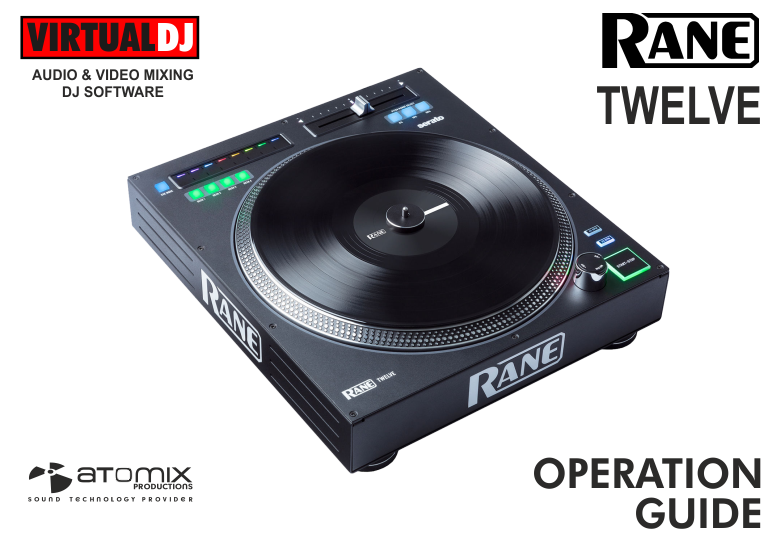 DJ Software - VirtualDJ - Hardware Manuals - Rane - Twelve